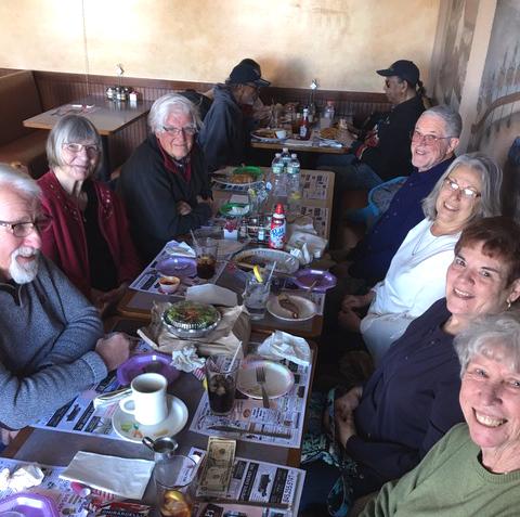 Seniors gathered at Pasquale's.